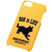 iPhone5/iPhone5sスマホケースハードケース ドッグシルエット シェパード