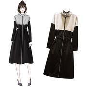 大人の魅力 上品 女性らしい 韓国ファッション  CHIC気質  春  新  中・長セクション  ドレス