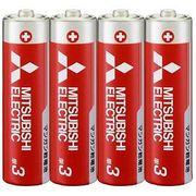 三菱 単3形マンガン乾電池(赤)4本  R6PD/4S 【まとめ買い10点】