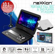 nexxion 10.1インチ液晶フルセグ搭載ポータブルDVDプレーヤー FV-P101FW