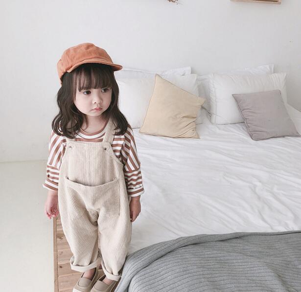 オーバーオール 女の子 80-120# サロペット コーデュロイ キッズパンツ ズボン 子供服