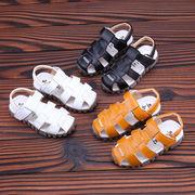 夏 新しいデザイン 児童 サンダル レザー ソフトボトム パッケージ ヘッド 赤ちゃん -続く(1)
