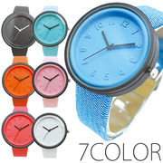 シンプルデザインで小さく浮き出た数字が可愛い! 1カラーシリコン SPST025 レディース腕時計