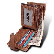 本革財布 牛革2つ折り財布 お父さん 折り財布 小銭入れ カード収納 レザー メンズ