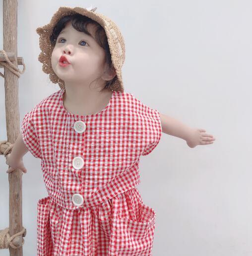 2019年新作★春新品★子供服★女の子★子供2点セット★チャック柄★シャツ&スカート★80-130