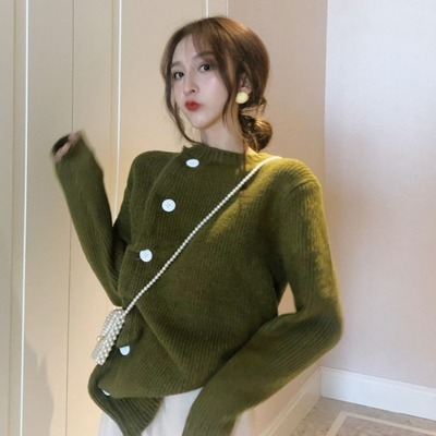 ファッション セット 女 春 新しいデザイン 怠惰な カーディガン セーター アウターウ