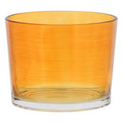 【在庫限り】カラフルグラス イタリア製 Sサイズ オレンジ