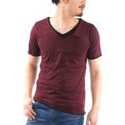 【2019春夏新作】 半袖Tシャツ メンズ 半袖 Vネック レイヤード 無地 春 夏 Tシャツ カットソー トップス