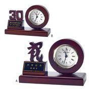 (クロック/ウォッチ)(記念時計/オリジナル)天然木切抜き記念時計 AS-810