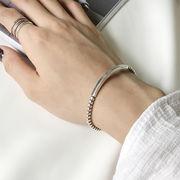 シルバー 925 ジュエリークロス付き バングル ブレスレット ◆メール便対応可◆