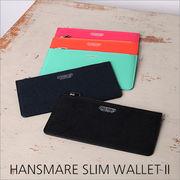 長財布 レディース HANSMARE SLIM WALLET II 薄 薄型財布 ウォレット レディース財布 本革 小銭入れ
