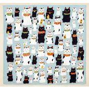 【ご紹介します!安心の日本製!洛花 マツモトヨーコ ハンカチ】まねき猫