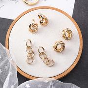 ピアス アクセサリー レディース 金属 幾何的 チェーン 韓国 オシャレ ファッション