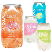 vTaLK &TaLK ドリンク 韓国 インスタで話題 透明缶