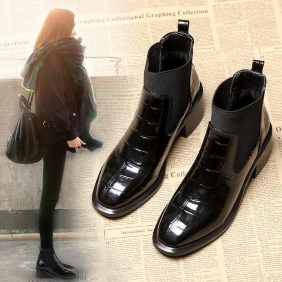 新作 韓国 厚底 シューズ 靴 出勤靴 ファッション ハイヒール ショートブーツ