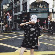 春夏新商品730582 大きいサイズ 韓国 レディース ファッション Tシャツ ワンピース  LL-4L