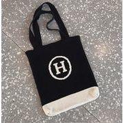 新作 バッグ ニット H 配色 大人気 韓国 INS ファッション シンプル カバン