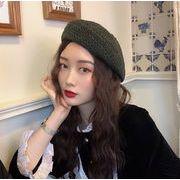 ★2019春夏新作★レディース 帽子 日除け 日焼け止め ベレー帽 個性 編み帽子 カラフル