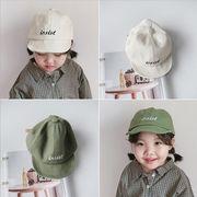 新作 子供帽子 キャップ 日除け帽  帽子 日焼け止め 英字 かわいい 刺繍 無地 可愛い 純色