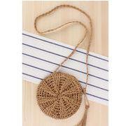 新品 ファッション バッグ 編みバッグ ハンドルバッグ ショルダーバッグ 円型