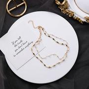 アクセサリー ネックレス ファッション オシャレ セクシー ゴールド シンプル パール