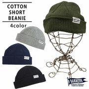 帽子 ニット帽 メンズ ニットキャップ ビーニー ワッチ ショートワッチ コットン PENNANTBANNERS