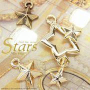 "★L&A Original Parts★""Stars""★煌めくスターチャーム★K16GP&本ロジウム&金古美★149"