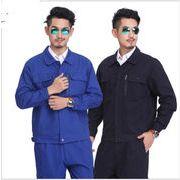 全2色 作業服  長袖 セットアップろうどうほごようひん ラッカー 防塵 防汚 工場 企業 保護具 100%純棉