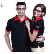 5色 作業服 おしゃれ バイカラー 切り替え 半袖 ラペル  polo衫  文化シャツ  広告シャツ  Tシャツ チーム