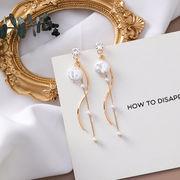 ファッション新作 ピアス 不規則 幾何 シェル タッセル 気質 シンプル 韓国