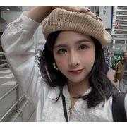 新品 レディース 夏 韓国 ベレー帽 ニット ファッション ハット 麦わら帽子 日焼け止め