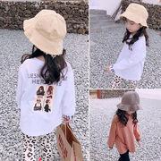 女児 春 ボトムシャツ 新しいデザイン 韓国風 洋室 春秋 漫画の画像 トップス 児童