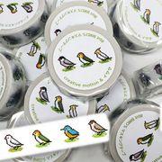 8bit BIRD'S 小鳥のマスキングテープ