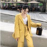 限定発売/高品質で/韓国ファッション/おしゃれな/カジュアル/スーツ/2点セット/スーツジャケット