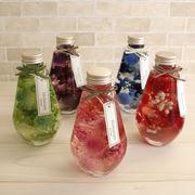 ハーバリウムしずく瓶(ドロップ型)5色セット(5本)化粧箱付き