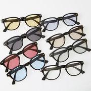 ウェリントン サングラス メンズ レディース 伊達 メガネ ウエリントン カラーレンズ 眼鏡 めがね UVカット