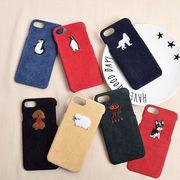 動物・ペンギン・コーデュロイ・iPhone8・iPhoneX・XS・XS Max・iPhoneXR[スマホケース/iPhoneケース]