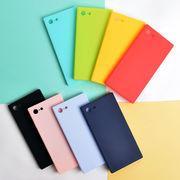 カラフル・無地・ポップ・スクエア・ソフト・Phone7・8・Plus・iPhoneX[スマホケース/iPhoneケース]