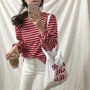 韓国風 春 新しいデザイン カレッジ風 ルース 何でも似合う 着やせ 丸襟 ヘッジ スト