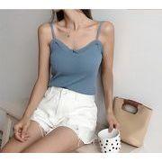 【大きいサイズXL-4XL】ファッションタンクトップ♪ホワイト/ブルー2色展開◆