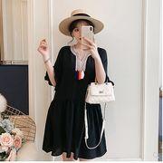 【大きいサイズXL-5XL】ファッション/人気ワンピース♪ブラック/ホワイト2色展開◆
