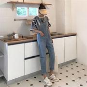 初回送料無料 2019 イージー キャミソール 連体式 デニム パンツ ジーンズ dylnh-19buo15