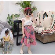 子供服 夏 セットアップ Tシャツ+スカート パイナップル  女の子 2点セット カジュアル系