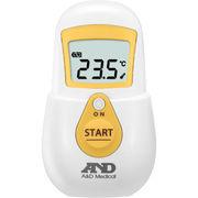 A&D 肌に触れずに、すばやく測れる!非接触体温計でこピッと(イエロー)