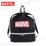 MARVEL 2層式 ナップサック / マーベル ロゴ リュック プールバッグ 体操着入れ 小学生 Amazon×