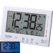 MAG エアサーチ機能付デジタル電波時計「エアサーチ ミチビキ」