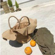 かごバッグ 夏  サークルバッグ  ショルダーバッグ 手提げ ハンドバッグ  籠バッグ ストローバッグ