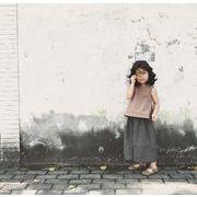 格安!キッズ★韓国子供服★アメリカン★シャツ+ワイドパンツ★ガウチョパンツブラウス5-13選択可