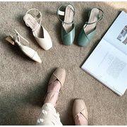 毎年売れてる上履き【送料無料】 美脚     百掛け トレンド  スクエアトゥ  靴と靴  パンプス  サンダル