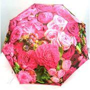 【雨傘】【長傘】絵画調ライラックローズ柄デジタルプリント細巻ジャンプ雨傘